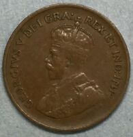 1932 Canada One Cent Copper Penny Coin #SS779