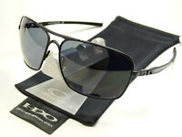 Oakley Plaintiff Squared Black Polarized Sonnenbrille Pilotenbrille Inmate Taper