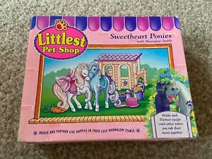 Littlest Pet Shop 1994 Vintage Sweetheart Ponies With Moonglow Stable With Box