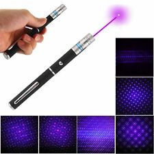 2 in 1 405nm Purple Laser Pointer Pen Beam Light Star Cap Visible Projector