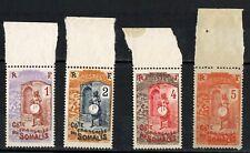 1915/16 - SERIE TIMBRES - COTE DES SOMALIS-NEUF-PLI SUR 83/4-Yt.83/6-Réf.A.4