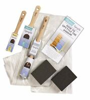 Harris Upcycle Kit 6pc Decorating Painting Sanding Paint Brush Kit Set Inc Guide