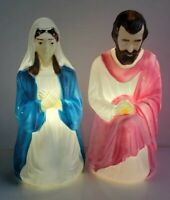 Vintage Nativity Blow Mold Set of Mary and Joseph Empire