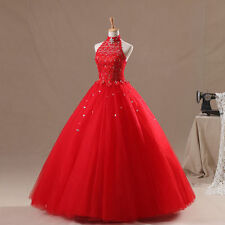 Red Wedding Quinceanera Formal Dresses Bridal Prom Dress Party Gowns Custom Size