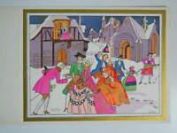 Mapa Envío Grabado Antigua Galants Coloreados En Plantilla Firmada Hilly C.1930