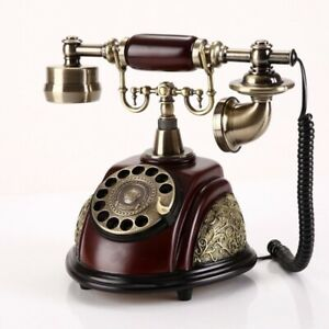 Resin imitation copper old fashioned Rotaring Dial Phone Telephone office Home