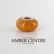 Antique German Baltic Amber– fits all European charms bracelets  CHA28 RRP£60!!!