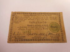 Philippines Emergency Currency Negros Occidental WWII Ten Pesos - Nice - # 74442
