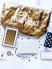 NWT Kate Spade New York BREAK THE ICE Large Metallic Gold Cooler Tote Bag - CUTE