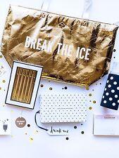 NWT Kate Spade New York BREAK THE ICE Large Metallic Gold Cooler Tote Bag - CUTE