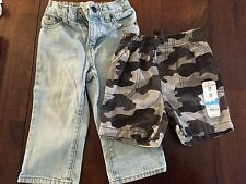 Old Navy Toddler Light Wash jeans size 18-24 mos. NWT Jumping Beans CAMO Shorts