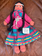 VINTAGE GORGEOUS NATIVE AMERICAN DOLL PENOBSCOT NEW WITH TAG SIGNED