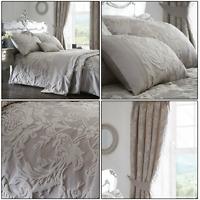Traditional Woven Jacquard Howard Duvet Quilt Cover Set Bedding Range Silver