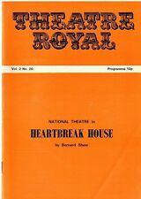 1975 National Theatre programme - Heartbreak House at Theatre Royal Norwich