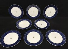 Sakura Galaxy Blue Salad Salad Plates (8) Mint !!!