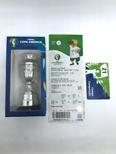 Copa America Trophy 2019+FINAL TICKET+Competition Field Card+Pins Collection