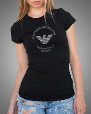 EMPORIO ARMANI black womens T-Shirt EA --Slim fit-- Size S, M
