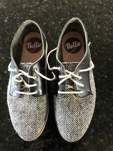 Rollie Size 38 Derby Flat Shoes.