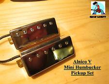 G.M. Mini Humbucker Set Alnico Magnets Chrome (set of 2 Neck and Bridge 50/52mm)
