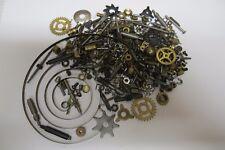 164 Grams~Steampunk*Crafts*Al tered Art*Asst Clock Parts~Brass Gears~Rods