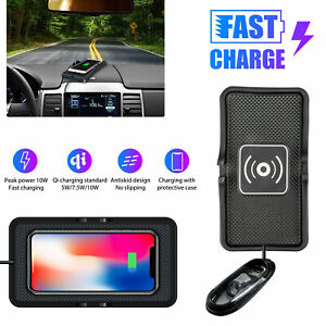 Qi Wireless Charger Car Holder Mount Non-Slip Pad Mat For Samsung S20 iPhone 12