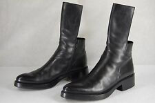 "CARLO CHRISTINA POELL MEN 1.75"" HI HEEL BLACK BIKER RIDING HALF BOOTS UK 7 US 8"