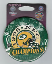 1996 Green Bay Packers NFC Champions button Super Bowl XXXI SB 31 Brett Favre