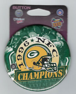 1996 Green Bay Packers NFC Champions button Super Bowl XXXI SB 31 Brett Favre