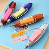 School LED Light Design Note Paper Ballpoint Pen Stationery Flashlight