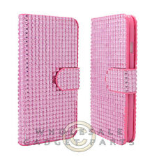 Apple iPhone 6/6s Wallet Pouch Soft Gel Diamond Look Pink  Case Cover Shield