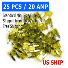 25pc MINI Blade 20amp Fuse Assortment Auto Car Motorcycle SUV FUSES Kit APM ATM