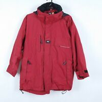 HELLY HANSEN Mens Red HELLY TECH Windbreaker Waterproof Hooded Jacket SIZE XL