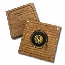 1/10 Troy oz .9999 Fine Gold Round in a Capsule in Custom  Box - Crane Design