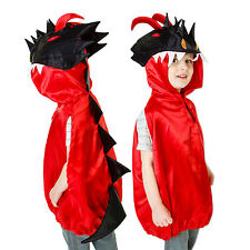 Luxury Red Kids Boys Dragon Costume Fancy Dress Dressing Up 3-8 Years Slimy Toad