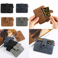 position Business Money Pocket ID Credit Case Leather Small Wallet Card Holder