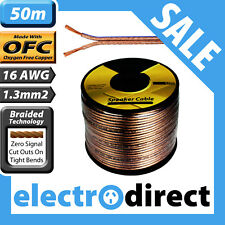 50m 16awg 1.3mm2 Speaker Cable Surround HIFI Audio with OFC – Lifetime Warranty