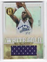 2012-13 Danny Manning #/99 Jersey Panini Gold Standard Jazz White Gold