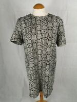 Ladies Dress Size M 10 12 ZARA Snakeskin Print Mini Tunic Party Evening