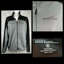 Eddie Bauer Sport Outdoors Golf Jacket Men's Black Gray Pockets Long Sleeve
