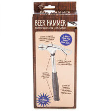 44039 BEER HAMMER STAINLESS STEEL BOTTLE OPENER AND ICE CRUSHER BAR ACCESSORY