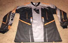 THOR PHASE Mens Size SMALL VNeck PADDED Motorcross Gray Long Sleeve Racing Shirt