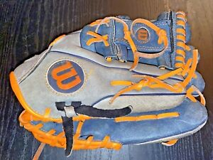 """Wilson A450 Youth 10"""" All Position Baseball Glove RHT Right Hand Thrower used"""