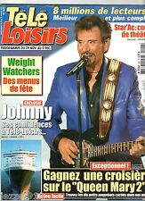 TELE LOISIRS n°926 ¤ 11/2003 ¤ COUV + ARTICLE 2 PAGES JOHNNY HALLYDAY A 60 ANS