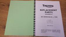 TRIUMPH  6T TR6 T120 BONNEVILLE US SPEC PARTS BOOK MANUAL No.7 1969 - TP38 SPC7