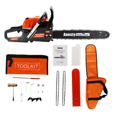"""58cc Petrol Commercial Chainsaw 20"""" Bar E-Start Chain Saw Tree Pruning 2*Chains"""
