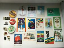 Soviet Badges and Pocket Calendars USSR Olympics