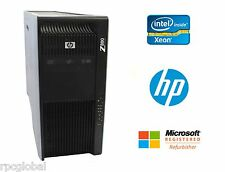 HP Z800 Workstation Xeon 12 Cores 2.4GHz 16GB RAM SSD NVIDIA DVDRW Win 10 Pro