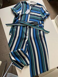 BNWT NEXT Size 14 Blue Summer Two Piece Suit