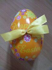 leere Geschenkbox mit Schleife für Ostern in Eiform ca. 9 x 12 x 8 cm
