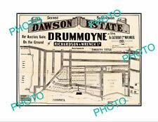 LARGE A3 HISTORIC POSTER OF SYDNEY NSW LAND SALE POSTER, DRUMMOYNE c1901